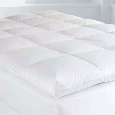 4 in. King Goose Down Baffled Mattress Topper