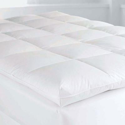 4 in. Twin Goose Down Baffled Mattress Topper