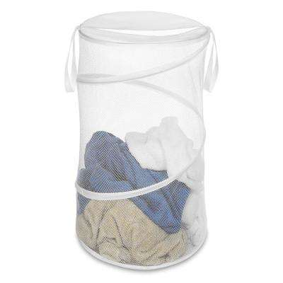 White Collapsible Laundry Hamper