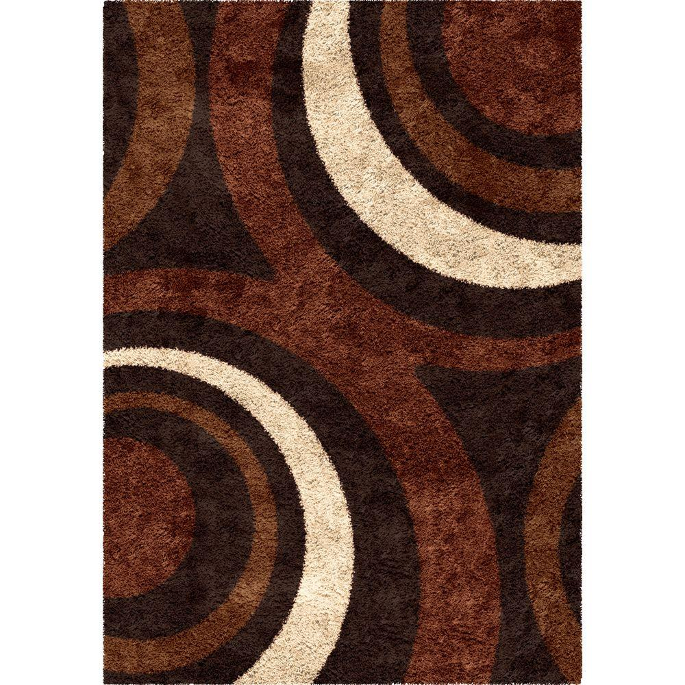 Orian Rugs Fire Hole Mocha 5 Ft X 8 Indoor Area Rug