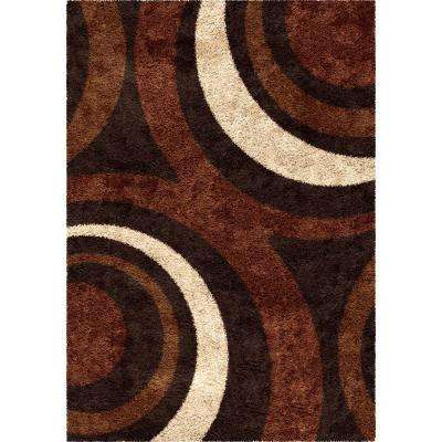Fire Hole Mocha 5 ft. 3 in. x 7 ft. 6 in. Indoor Area Rug