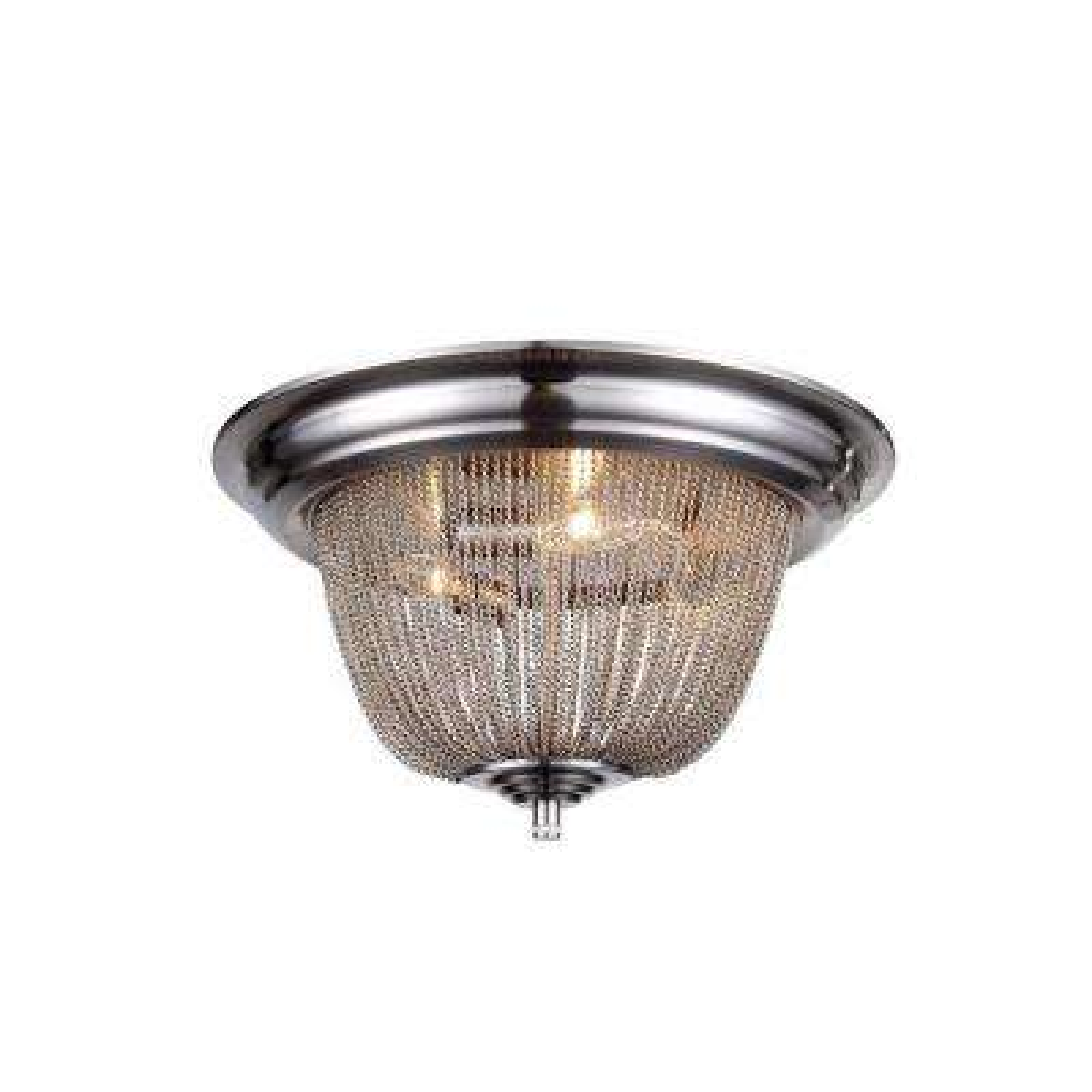 Paloma 3-Light Pewter Flushmount