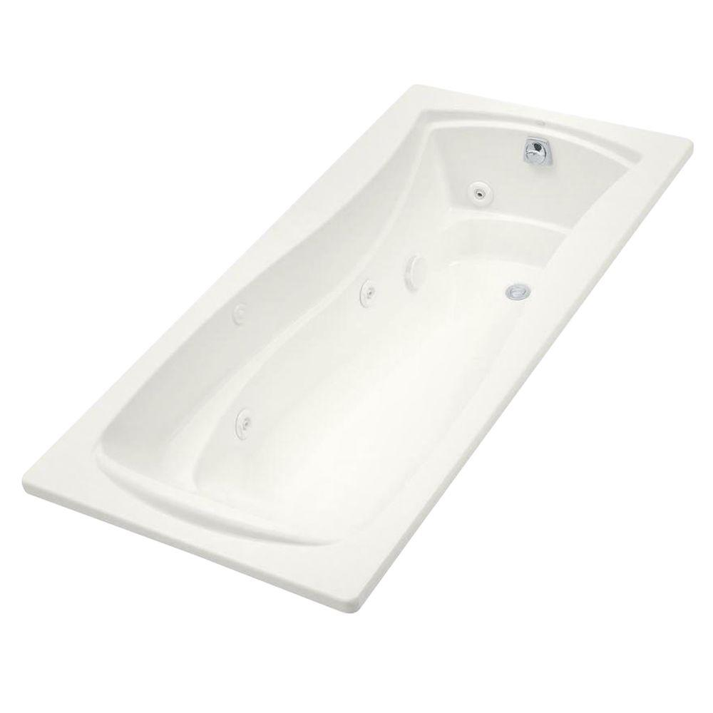KOHLER Mariposa 6 ft. Whirlpool Tub with Right-Hand Drain in White-K ...