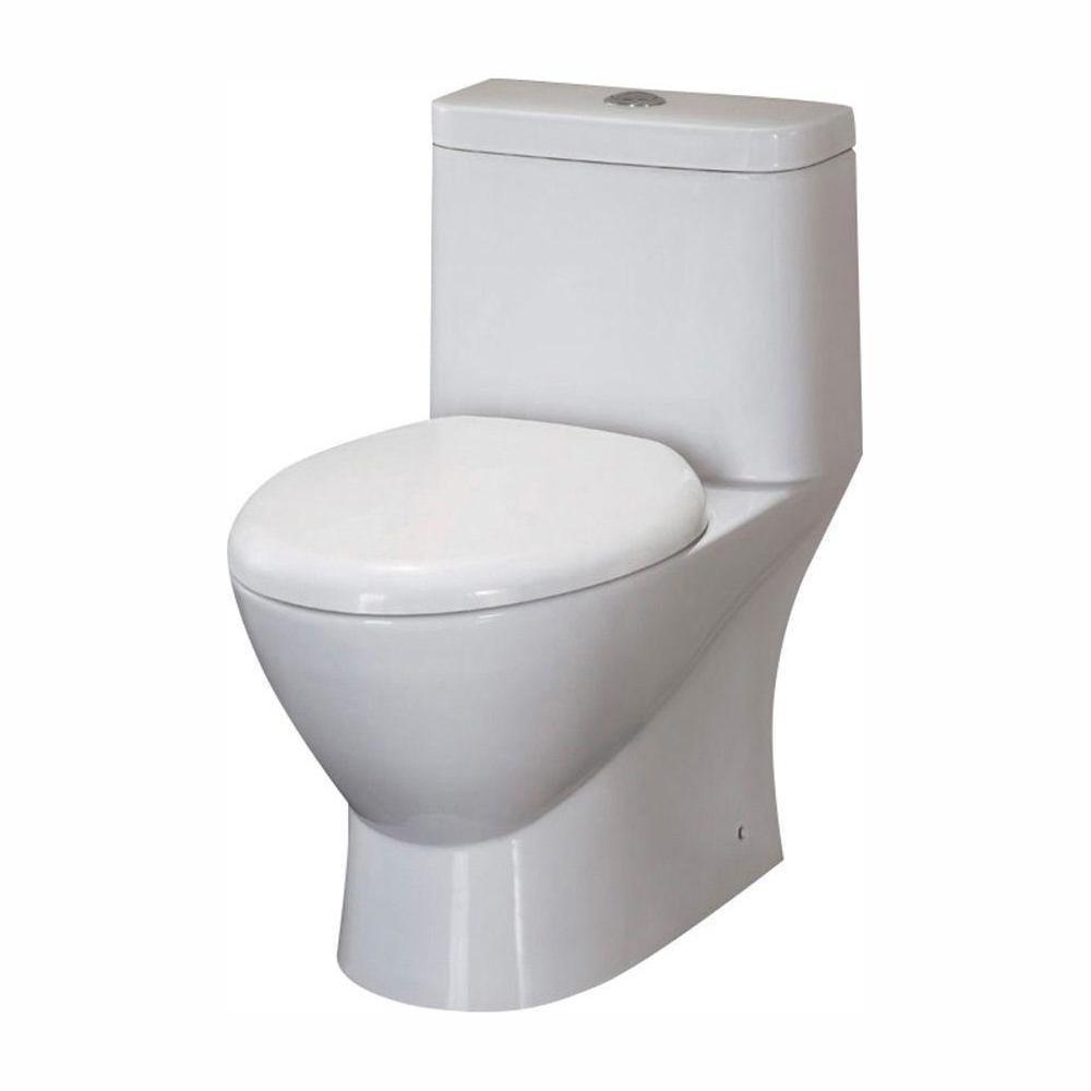 Serena 1-piece 0.8 / 1.6 GPF Dual Flush Elongated Toilet in White
