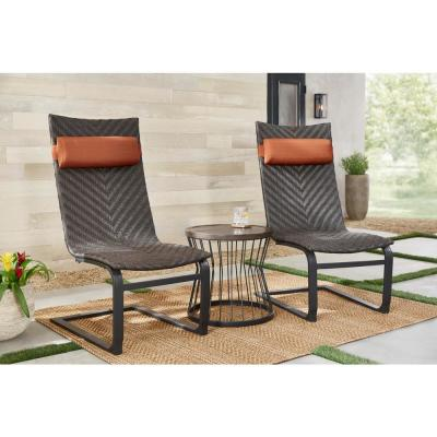 Hampton Bay Highton 3 Piece Wicker Patio Spring Set