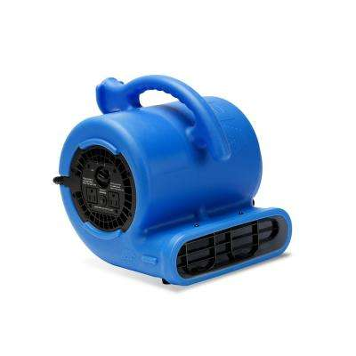 1/5 HP 800 CFM Air Mover for Water Damage Restoration Carpet Dryer Floor Blower Fan Home and Plumbing Use in Blue