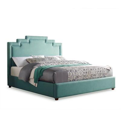 Sadie upholstered Seafoam King Bed