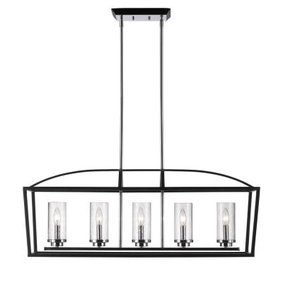 Mercer 5-Light Black Pendant