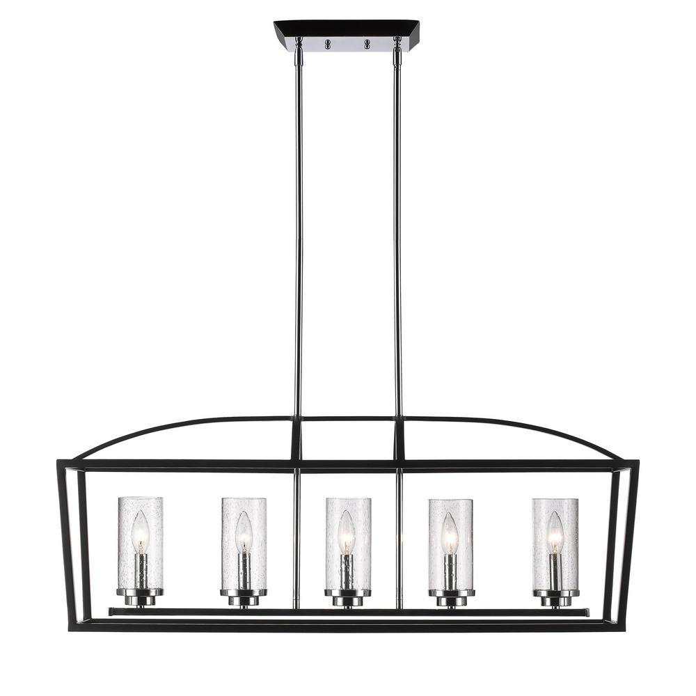 Mercer 5-Light Black Pendant