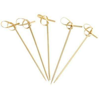 Knotted Bamboo Appetizer Skewers (24-Pack)