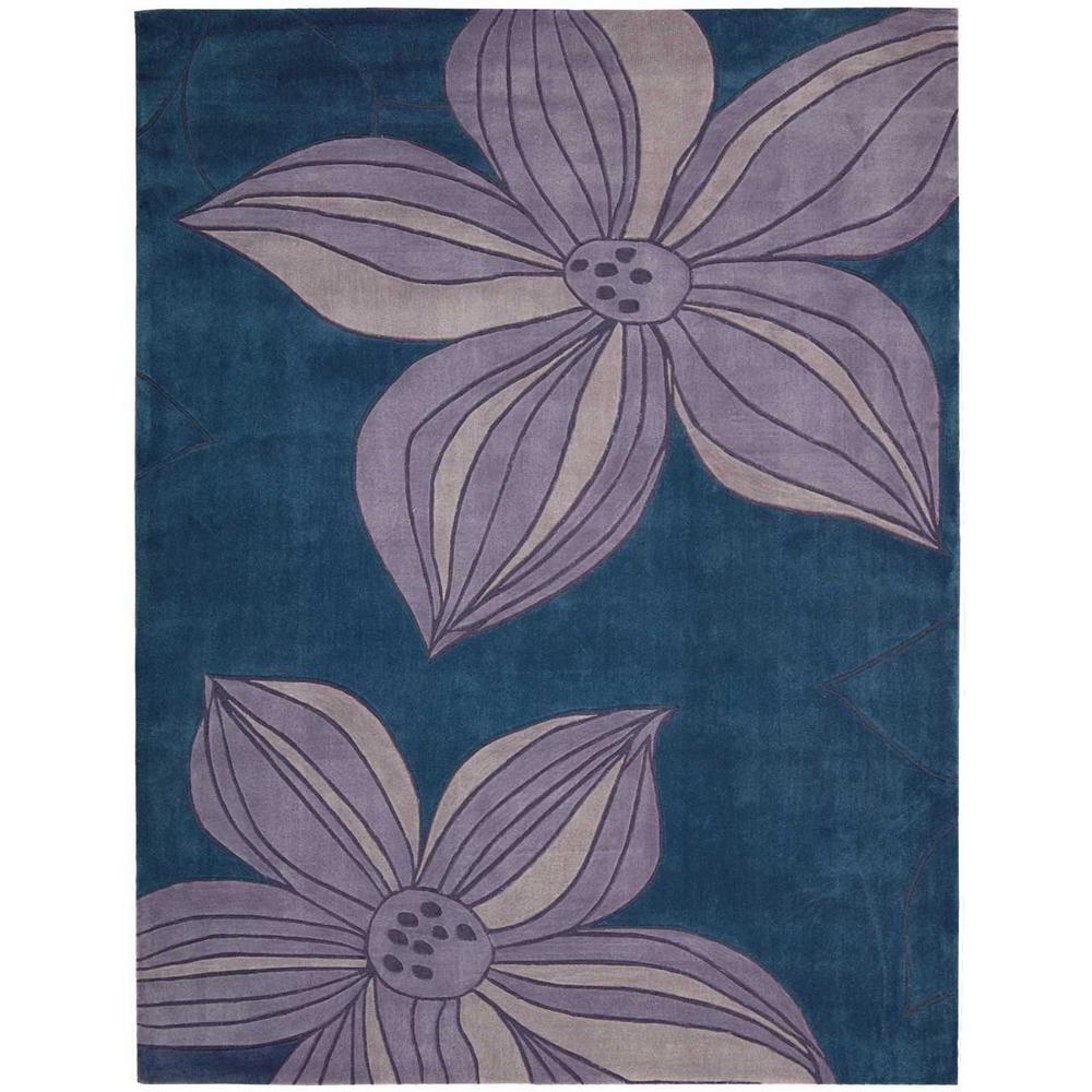 Contour Blue 8 ft. x 10 ft. 6 in. Area Rug