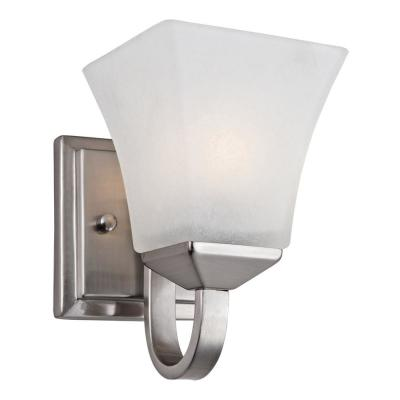 Torino 1-Light Satin Nickel Wall Mount Sconce