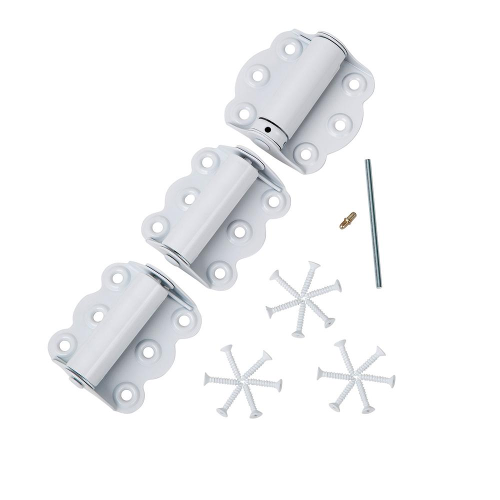 2-3/4 inch Hinge Set for Screen Doors - Self-Closing and Adjustable