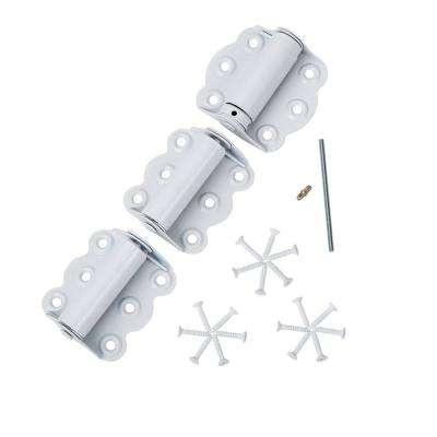 2-3/4 inch Hinge Set for Screen Doors - Self-Closing and Adjustable (White 3-Pack)