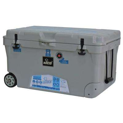 110 qt. Gray Wheeled Cooler