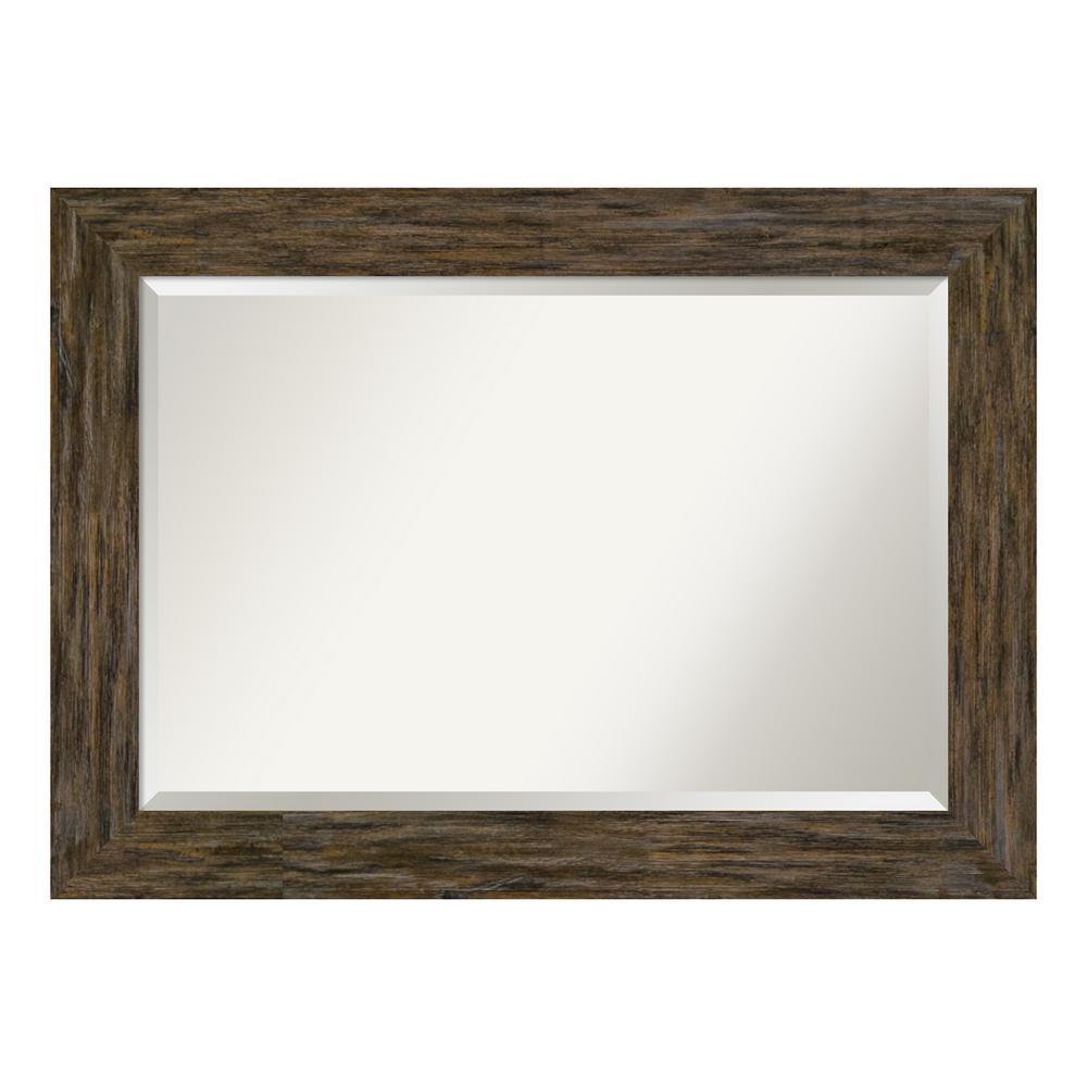 Amanti Art Fencepost Brown Bathroom Vanity Mirror DSW4094168