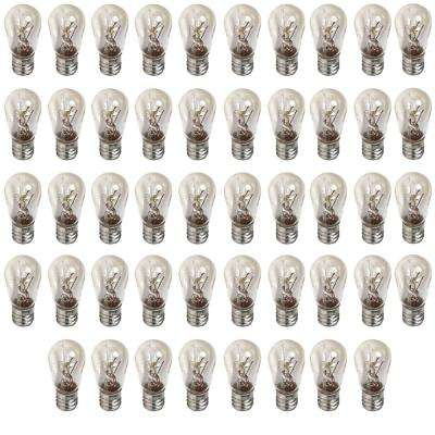 6-Watt S6 Incandescent Clear Indicator Light Bulb (48-Pack)