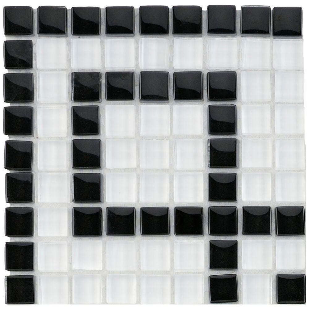 Merola Tile Tessera Ice White Greek Key  In X 5