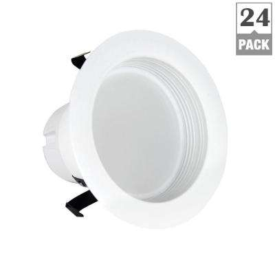 50W Equivalent Soft White 4 in. White Baffle-Trim Recessed Retrofit Downlight LED 90 CRI Maintenance Pack (24-Pack)