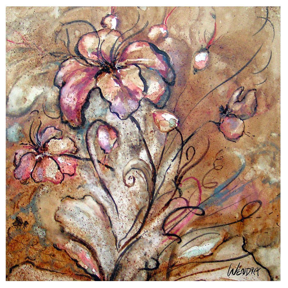 35 in. x 35 in. Anenomie Canvas Art