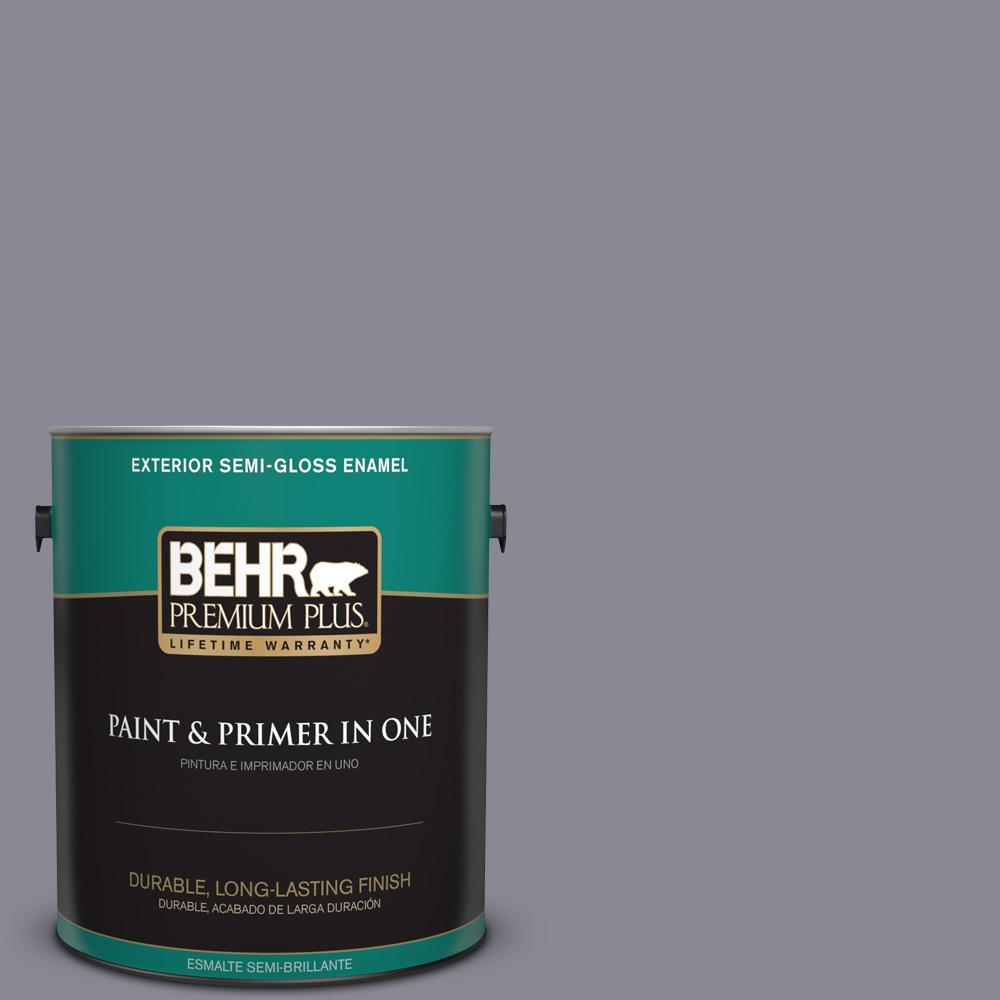 1 gal. #PPU16-15 Gray Heather Semi-Gloss Enamel Exterior Paint