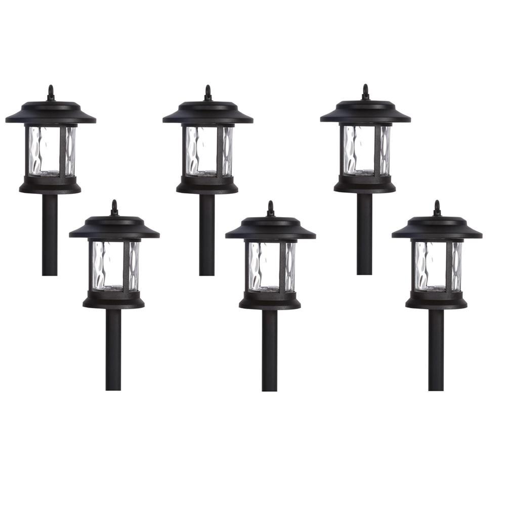 Black Outdoor Integrated Led Lantern