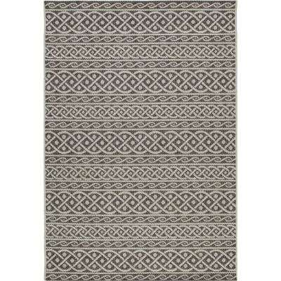 Fordon Charcoal 8 ft. x 11 ft. Rectangle Indoor/Outdoor Area Rug