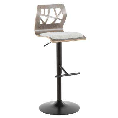 Folia Adjustable Light Grey Bar Stool