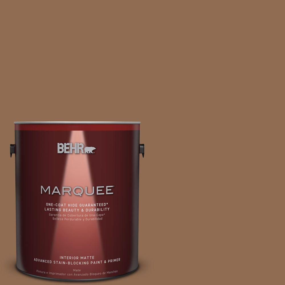 1 gal. #N250-6 Split Rail One-Coat Hide Matte Interior Paint