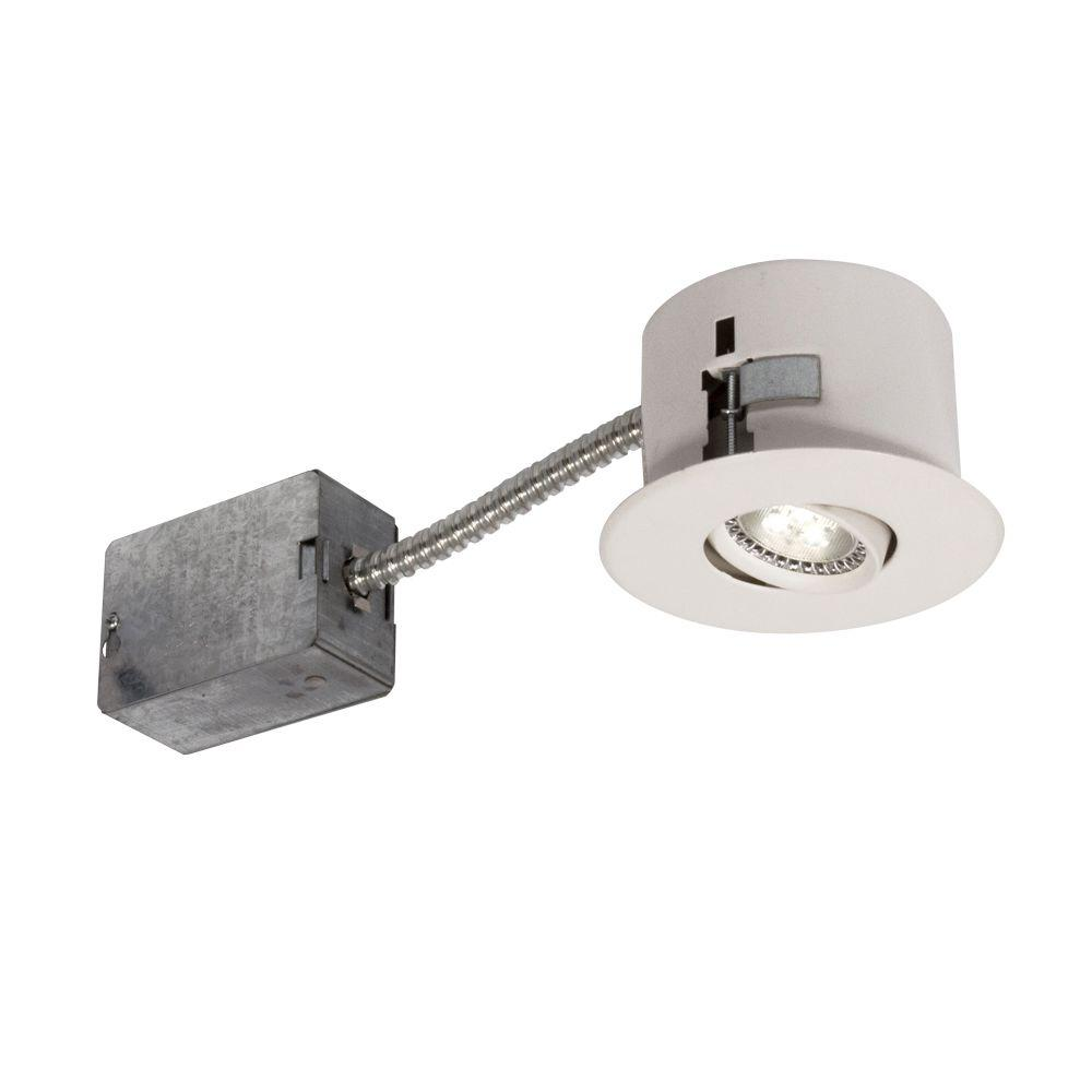 BAZZ Flex 4 Series 3-7/8 in. White LED Recessed Lighting Fixture with Designed for Ceiling Clearance