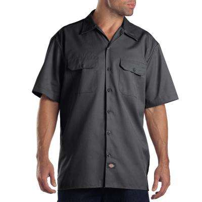 Short Sleeve Charcoal Work Shirt