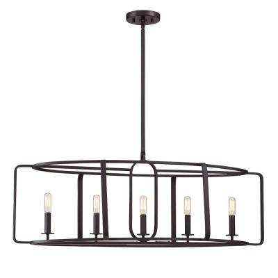 5-Light English Bronze Chandelier