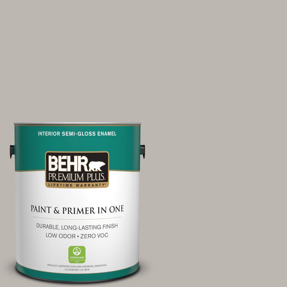 1 gal. #HDC-NT-06G Glasgow Fog Zero VOC Semi-Gloss Enamel Interior Paint