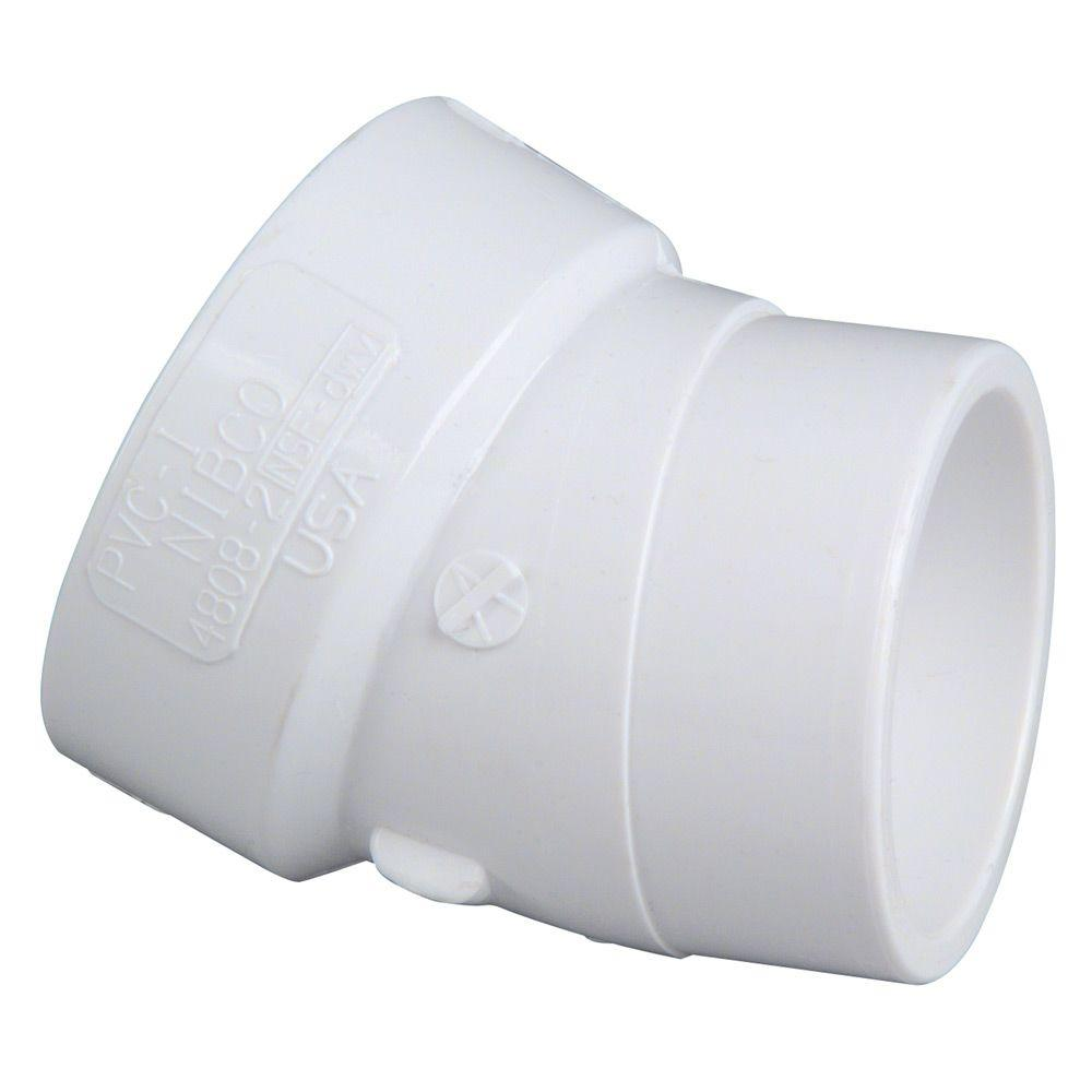 1-1/2 in. PVC DWV 22-1/2-Degree H x SPG Street Elbow