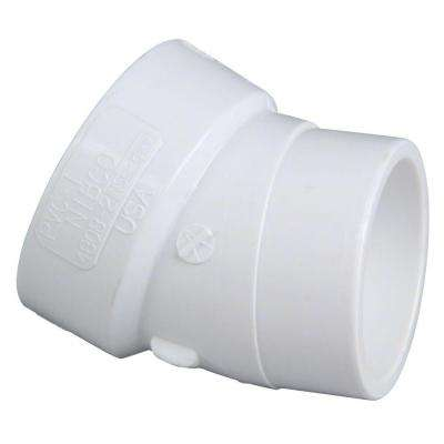 2 in. PVC DWV 22-1/2-Degree H x SPG Street Elbow