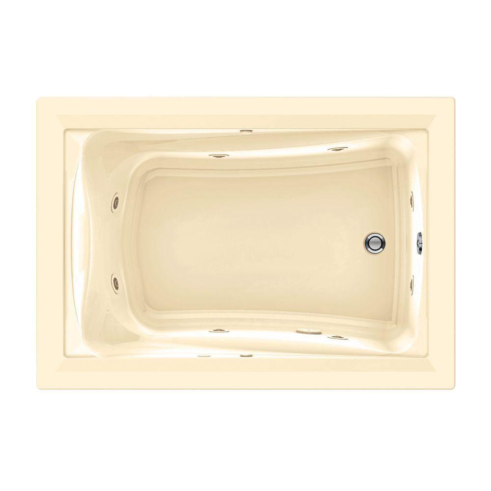 American Standard Green Tea EverClean 5 ft. x 42 in. Whirlpool Tub in Bone