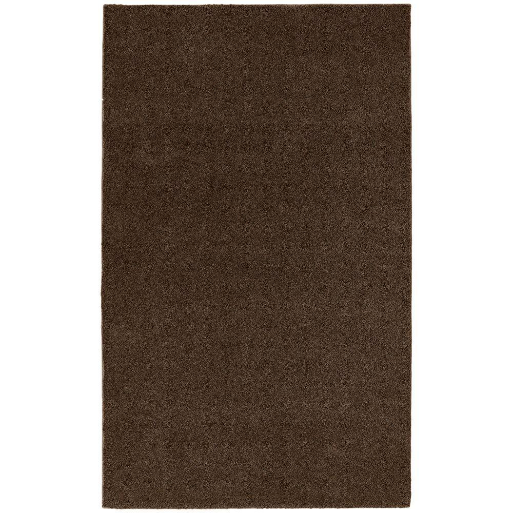 Garland Rug Washable Room Size Bathroom Carpet Chocolate 5 Ft X 6 Ft Area Rug Brc 0056 14
