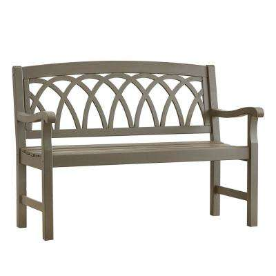 Verdon Gorge 47 in. Gray Wood Outdoor Bench