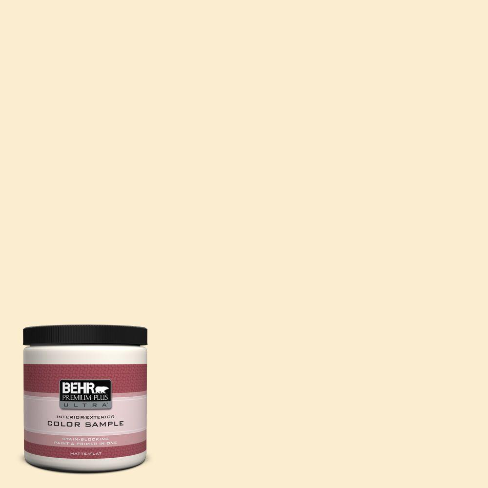 BEHR Premium Plus Ultra 8 oz. #PPL-68 Summer Moon Flat/Matte Interior/Exterior Paint Sample