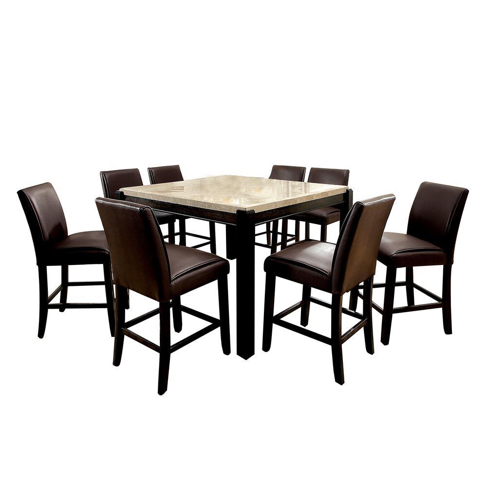 Gladstone II Dark Walnut Table Set