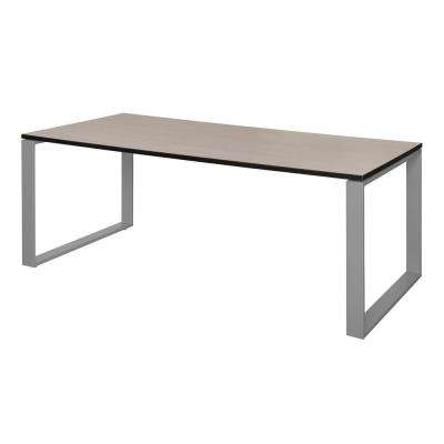 Structure 72 in. x 36 in. Maple/Grey Training Table