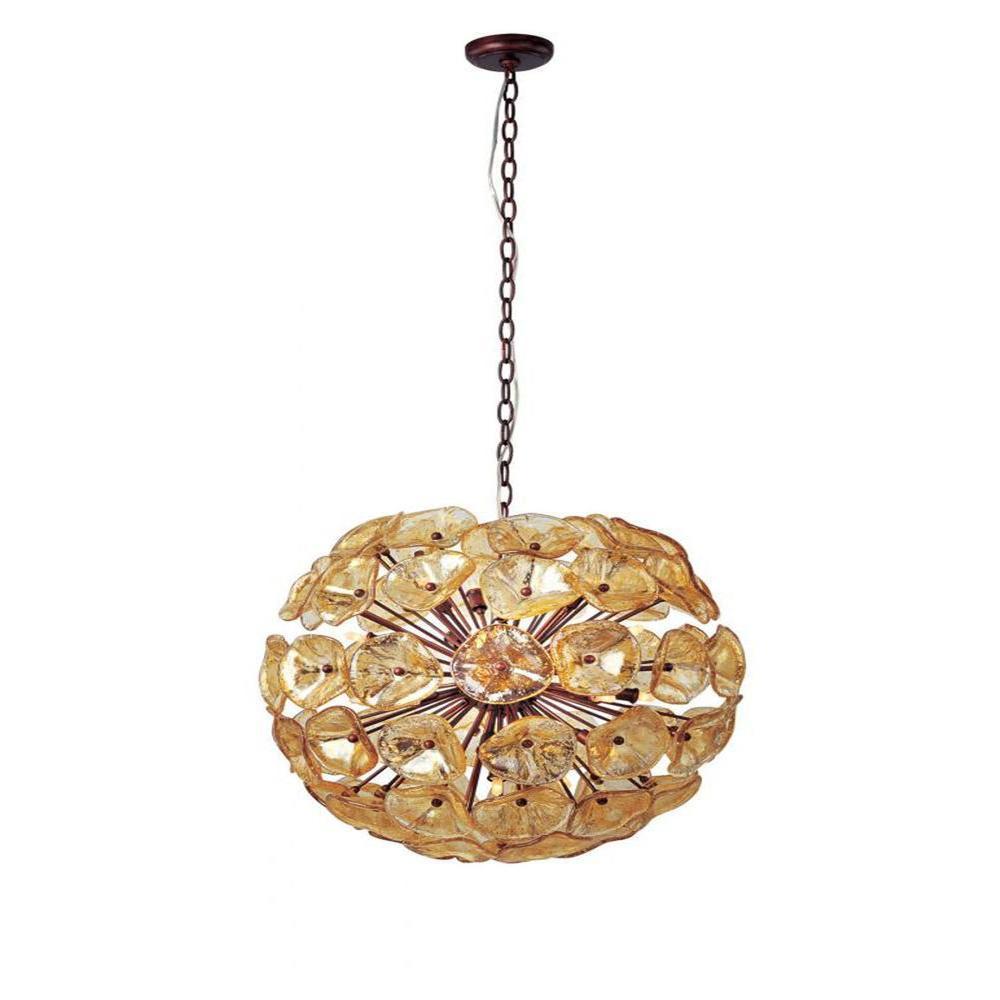 null Cassini 20-Light Bronze Pendant