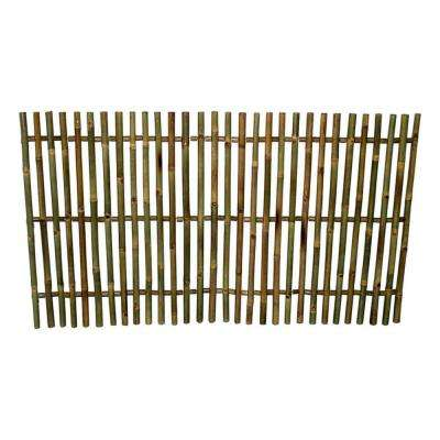 5 ft. L x 3 ft. H Bamboo Picket Rolled Fence Even Top