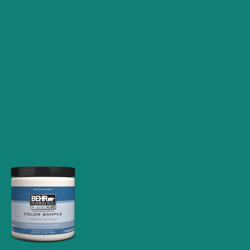 behr premium plus ultra 8 oz hdc cl 21 sporting green interior exterior satin enamel paint. Black Bedroom Furniture Sets. Home Design Ideas
