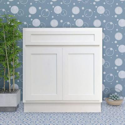 33 in. W x 21 in. D x 32.5 in. H 2-Doors Bath Vanity Cabinet Only in White
