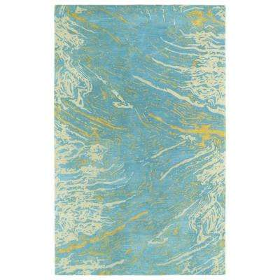 Brushstrokes Blue 10 ft. x 13 ft. Area Rug
