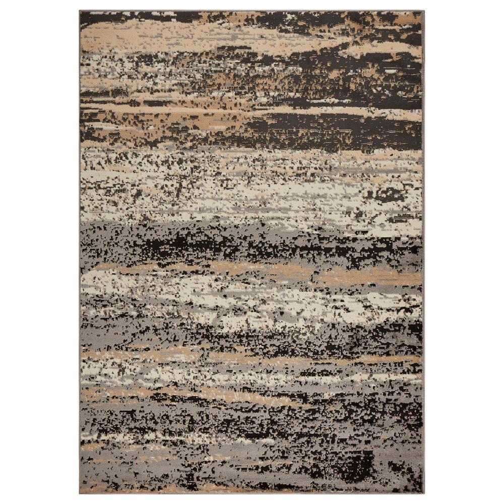 Infinity Gray/Black 7 ft. 9 in. x 9 ft. 5 in. Indoor Area Rug