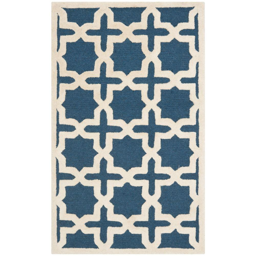 Cambridge Navy Blue/Ivory 4 ft. x 6 ft. Area Rug