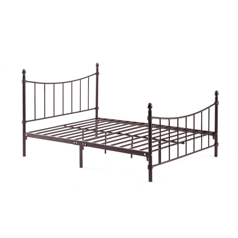 Complete Metal Bronze Queen Bed with Headboard, Footboard...