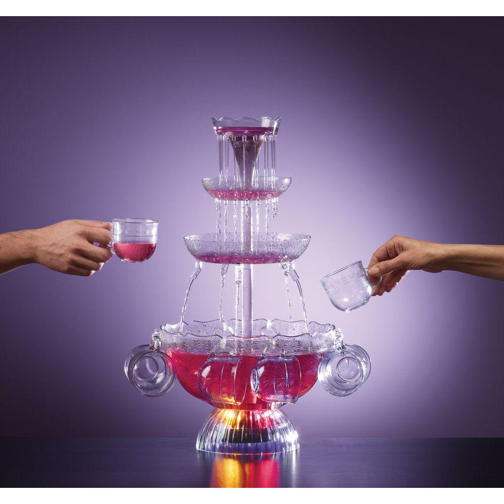 Nostalgia Electrics Lighted Party Fountain with 8 Cups
